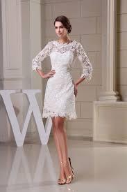 3 4 length sleeve lace knee length maternity wedding dress