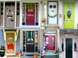 articles with front door halloween decorations tag awesome front