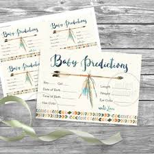 instant download baby shower invitations baby predictions baby shower game dreamcatcher watercolor tribal