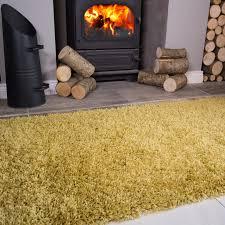 Yellow Fireplace Ochre Yellow Thick Shaggy Fireplace Rugs Ontario Kukoon