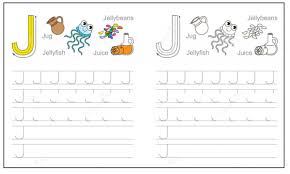 Writing The Alphabet Worksheets Letter J Worksheet For Kindergarten Preschool And 1 U0027st Grade