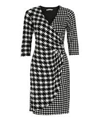 houndstooth dress classic wrap houndstooth dress rickis