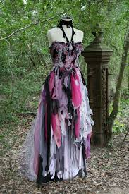 dream bohemian fantasy steampunk vampire goth witch wedding gown