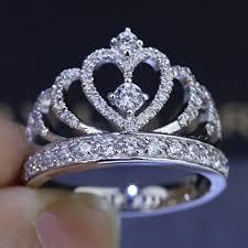 crown engagement rings images Handmade crown ring 100 soild 925 sterling silver aaaaa zircon jpg