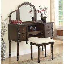 Oak Vanity Table With Drawers Oak Bedroom U0026 Makeup Vanities You U0027ll Love Wayfair