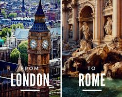 london and rome travel photo collage templates by canva