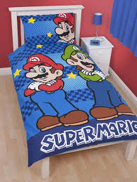 Mario Bros Bed Set Nintendo Mario Brothers Single Panel Duvet And Pillowcase
