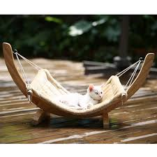 cat hammock bed wood small dog cat hanging bed