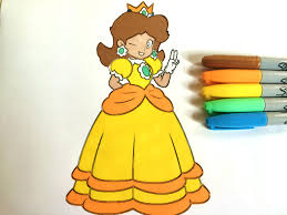 coloring princess daisy colorful cat youtube