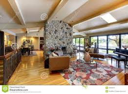 Luxury Home Interior Designers Open Modern Luxury Home Interior Living Room And Kitchen Stock