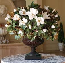 Artificial Flower Decorations For Home Magnolia In Palladin Urn Whicon02 Whgr Urn Magnolia And Foyers