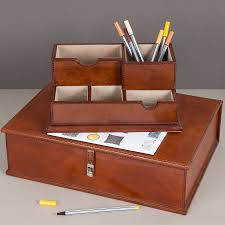 Leather Desk Organizer by The Sussex Leather Desk Set By Ginger Rose Notonthehighstreet Com
