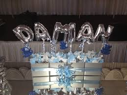 decorated balloons cake table ideas balloon expressions