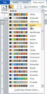 colour themes for excel word 2010 styles and themes page 5
