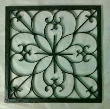 Large Wrought Iron Wall Decor Easy Diy Iron Wall Art 6 Steps With Pictures