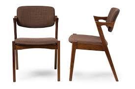 Mid Century Dining Chairs Upholstered Buy Amazon Com Baxton Studio 2 Piece Elegant Mid Century Modern