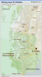 Patagonia Map Map Hiking Near El Chalten Map Hiking Near El Chalten Budget
