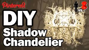 How To Make A Lamp Shade Chandelier Diy Shadow Chandelier Man Vs Pin 1 Youtube