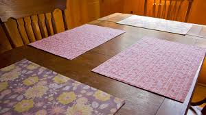 how to sew a reversible placemat youtube