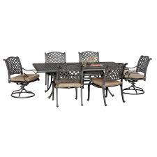 Agio Manhattan by Moab World Source 7 Piece Patio Dining Set Rc Willey Furniture Store
