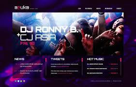 night club website template 38915