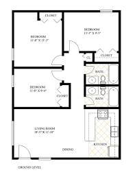triplex floor plans modern rooms colorful design lovely and