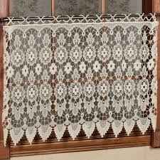 medallion macrame lace tier window treatment