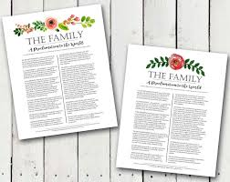 family proclamation a pocket of lds prints