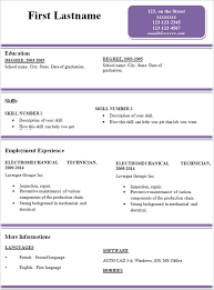 free simple resume template basic resume template for senior hr