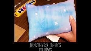 northern lights watercolor pillow how to kids craft youtube