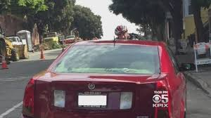 caught on camera san francisco cyclist ends up on windshield in