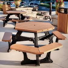 cambridge hexagonal picnic table picnic tables upbeat com