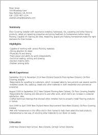 Resume Samples For Cleaning Job by Professional Floor Covering Installer Templates To Showcase Your