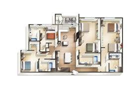 4 Bedroom Apartment by Vdub 1 2 3 U0026 4 Bedroom Apartments For Rent At Blvd63