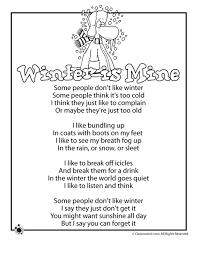 winter kids poems winter is mine kids poem classroom jr