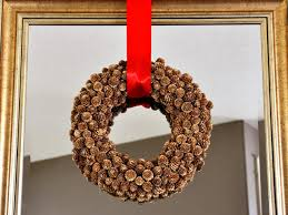 how to make a holiday pinecone wreath hgtv