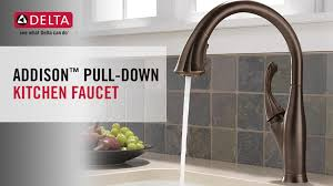 addison kitchen faucet delta addison single handle pull down sprayer kitchen faucet with