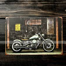 motorcycle home decor signs super man vintage metal signs home decor vintage tin signs
