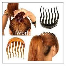 hair combs bump it up volume inserts hair combs clip bumpits ponytail