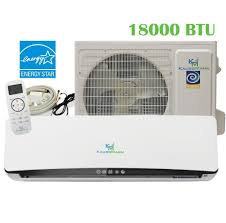 ductless mini split air conditioner kaussmann 23 3 seer 18000 btu mini split ac unit ductless mini