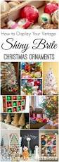 how to display vintage shiny brite ornaments christmas ornament