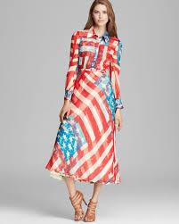 Flag Dress Lyst Catherine Malandrino Maxi Dress Freedom Flag Print In Red