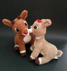 hallmark kissing talking rudolph red nosed reindeer u0026 clarice