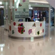 Small White Reception Desk by Modern L Shape Counter High Glossy White Beauty Salon Reception