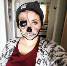 halloween makeup half face boy images
