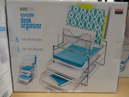 Wire Mesh Desk Organizer Desktop File Organizers Creative Desk Decoration