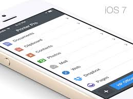 design application ios printer pro ios 7 ready ui ux user interface design and flat style