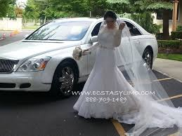 infiniti qx56 limo white maybach 62 for weddings in nyc new york white maybach for