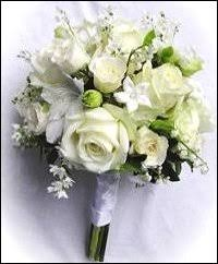 Bridesmaid Flowers All White Floral Hand Tied Bridesmaid Bouquet In Montgomery Ny