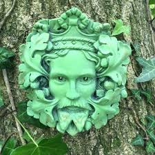 green man garden green king garden wall plaque outdoor pagan